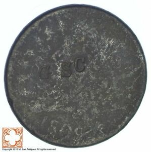 1809 CLASSIC HEAD HALF CENT  COUNTER STAMPED: GSC  XB44