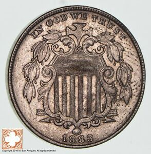 1883 SHIELD NICKEL   US TYPE COIN  1284