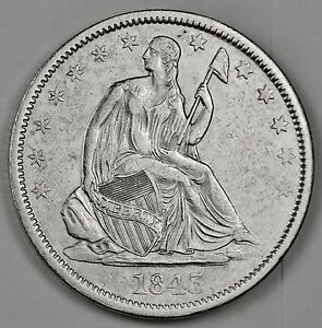 1843 O SEATED LIBERTY HALF.  A.U.  113983