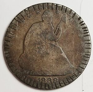 1868 S SEATED LIBERTY HALF.  CIRCULATED.  109987