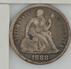 1888 LIBERTY SEATED DIME  Z38