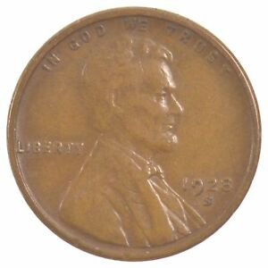 1928 S LINCOLN WHEAT EARS CENT  J26