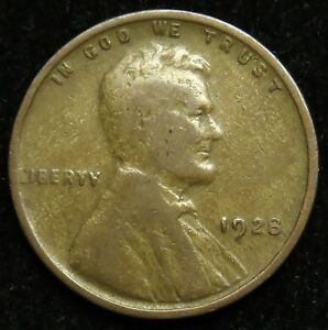 1928 LINCOLN WHEAT CENT PENNY VG GOOD  B03
