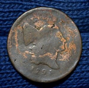 1795 HALF CENT  WITH POLE