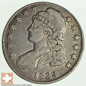 1833 CAPPED BUSTED HALF DOLLAR  2020