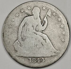 1844 O SEATED LIBERTY HALF.  GOOD.  99864