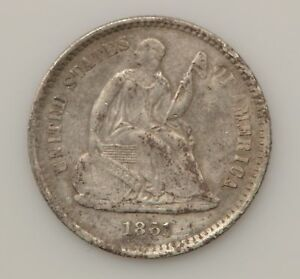1861 P SEATED LIBERTY SILVER HALF DIME  G11