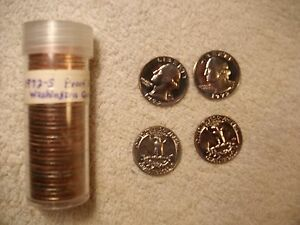 ROLL OF  40  1972 S  PROOF WASHINGTON QUARTER COINS