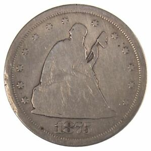 1875 S SEATED LIBERTY TWENTY CENT PIECE STAMPED
