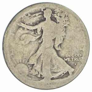1916 S WALKING LIBERTY HALF DOLLAR 90  SILVER  XB09
