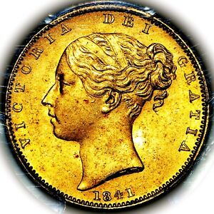 Click now to see the BUY IT NOW Price! 1841 QUEEN VICTORIA GREAT BRITAIN LONDON GOLD SOVEREIGN PCGS MS65