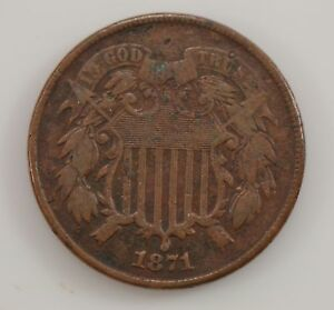 1871 TWO CENT PIECE  G26