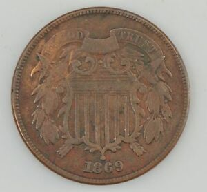 1869 TWO CENT PIECE  Z12