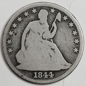 1844 O SEATED LIBERTY HALF.  GOOD.  103276