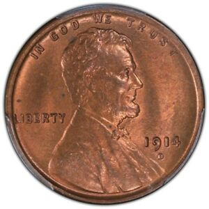 Click now to see the BUY IT NOW Price! 1914 D 1C LINCOLN CENT   TYPE 1 WHEAT REVERSE PCGS MS65RB  CAC