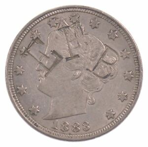 1883 LIBERTY HEAD NICKEL FIVE CENT WITHOUT CENTS