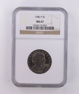 MS67 1980 P SUSAN B. ANTHONY DOLLAR   NGC GRADED  8647