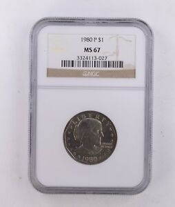 MS67 1980 P SUSAN B. ANTHONY DOLLAR   NGC GRADED  8649