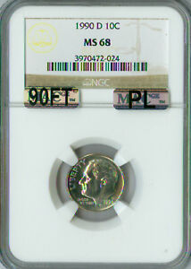 Click now to see the BUY IT NOW Price! 1990 D ROOSEVELT DIME NGC MAC MS68 PL PQ SOLO FINEST REGISTRY SPOTLESS