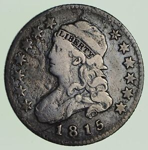 1815 CAPPED BUST QUARTER   CIRCULATED  6824