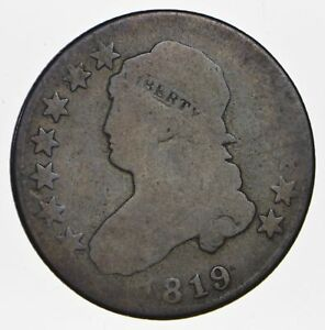 1819 CAPPED BUST QUARTER   CIRCULATED  0789