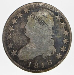 1818 CAPPED BUST QUARTER   CIRCULATED  0788