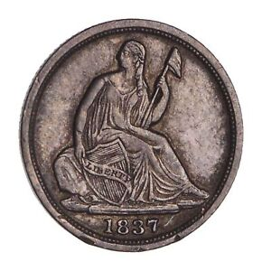 1837 SEATED LIBERTY HALF DIME   CIRCULATED  1653