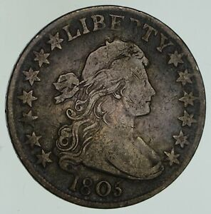 1805 DRAPED BUST HALF DOLLAR   CIRCULATED  4640