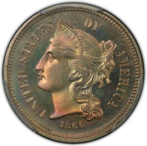 Click now to see the BUY IT NOW Price! 1866 3CN THREE CENT NICKEL PCGS PR67