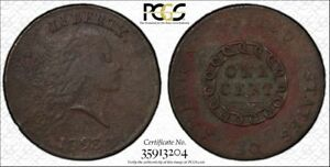 1793 CHAIN CENT AMERICA PCGS GRADED VF DETAILS ENVIRONMENTAL DAMAGE  COIN