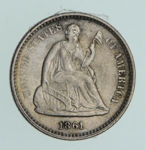 1861 SEATED LIBERTY HALF DIME  NEAR UNCIRCULATED  2787