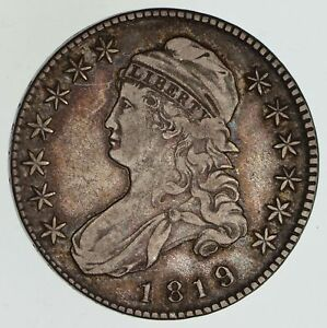 1819/8 CAPPED BUST HALF DOLLAR   CIRCULATED  4864