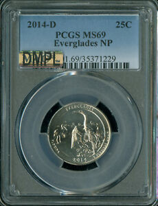 Click now to see the BUY IT NOW Price! 2014 D EVERGLADES QUARTER PCGS MAC MS 69 DMPL SOLO FINEST REGISTRY SPOTLESS