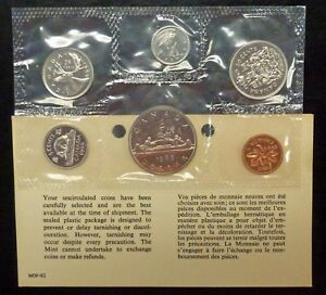 1969 CANADA MINT SET WITH CARD NO ENVELOPE