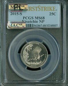 Click now to see the BUY IT NOW Price! 2015 S KISATCHIE QUARTER PCGS MAC MS68 PL PQ F.S. FINEST POP 3  SPOTLESS