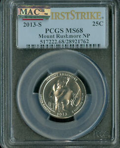 Click now to see the BUY IT NOW Price! 2013 S MOUNT RUSHMORE QUARTER PCGS MAC MS68 PQ POP 3  SPOTLESS