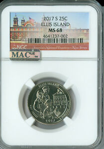 Click now to see the BUY IT NOW Price! 2017 S ELLIS ISLAND QUARTER NGC MAC MS68 PQ SOLO FINEST FINEST SPOTLESS