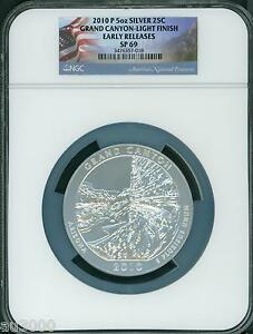 Click now to see the BUY IT NOW Price! 2010 P GRAND CANYON NP ATB  5 OZ SILVER NGC SP69 ER  LIGHT SATIN FINISH ER