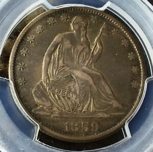 1859 O HALF DOLLAR PCGS XF40 BEAUTIFUL PATINA GREAT COIN