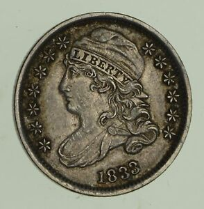 1833 CAPPED BUST DIME   NEAR UNCIRCULATED  4688
