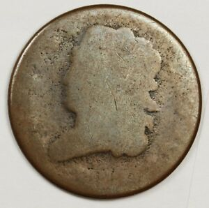 HALF CENT LOOKS LIKE 1828 BUT DATE IS WORN.  POOR 1.  129681