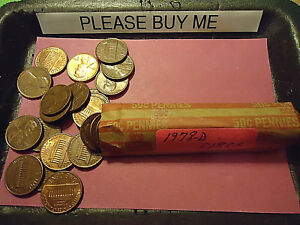 1978 D LINCOLN CENT CIRCS ROLL          WE COMBINE SHIPPING