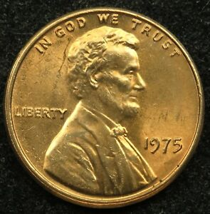1975 UNCIRCULATED LINCOLN MEMORIAL CENT PENNY BU  B02