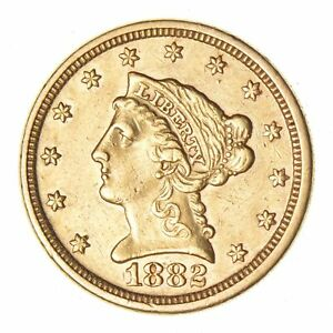 1882 $2.50 LIBERTY HEAD GOLD QUARTER EAGLE   CIRCULATED  9128