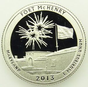 2013 S DEEP CAMEO CLAD PROOF FORT MCHENRY AMERICA THE BEAUTIFUL QUARTER  B05
