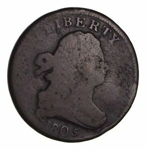 1805 DRAPED BUST HALF CENT   CIRCULATED  1556