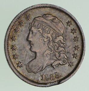 1835 CAPPED BUST HALF DIME   CIRCULATED  7198