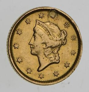 1852 LIBERTY HEAD GOLD DOLLAR   CIRCULATED  7593
