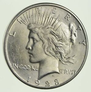 1923 S PEACE SILVER DOLLAR   NOT CIRCULATED  9909
