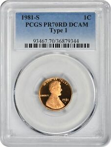Click now to see the BUY IT NOW Price! 1981 S TYPE 1 LINCOLN CENT PR70RD DCAM PCGS PROOF 70 RED DEEP CAMEO